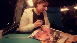Maëlle Pariez - Ecriture de mon livre dans le train