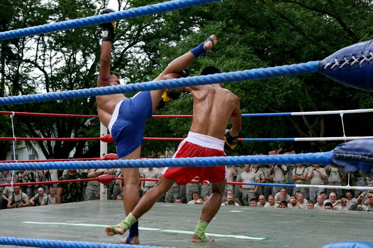 muay thai militaire ring combat